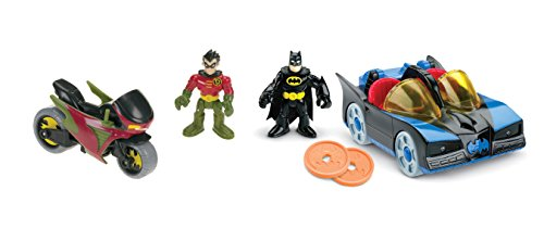 Fisher-Price DC Super Friends Imaginext Batmobile and Cycle - 1