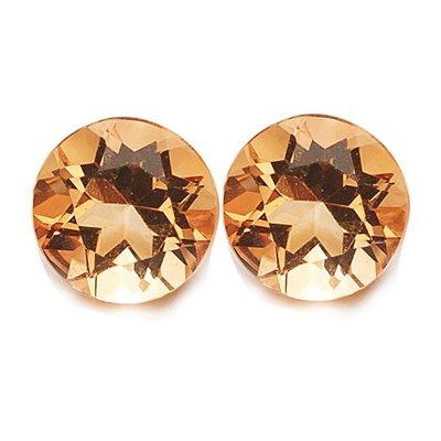 2.90 Cts of AAA 8 mm Round Matching Loose Citrine ( 2 pcs set ) Gemstones
