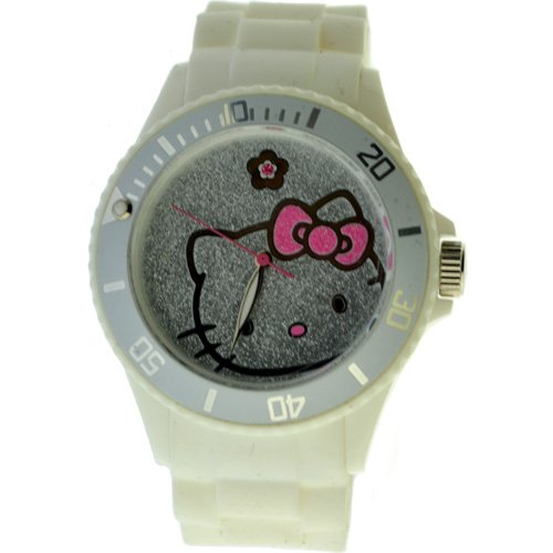 Hello Kitty Women's White Plastic Case Watch