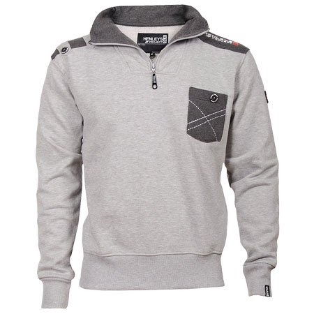 Henleys Apprentice Funnel Sweatshirt Mens Grey Size S