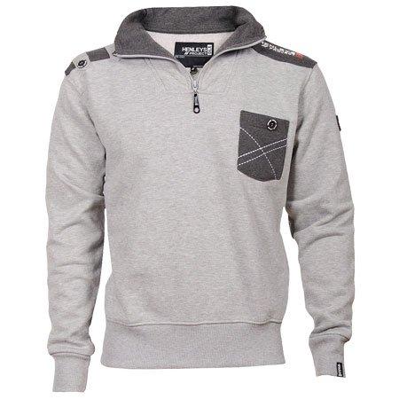 Henleys Apprentice Funnel Sweatshirt Mens Grey Size S