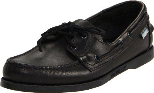 how to sebago s docksides boat shoe black leather 10 m