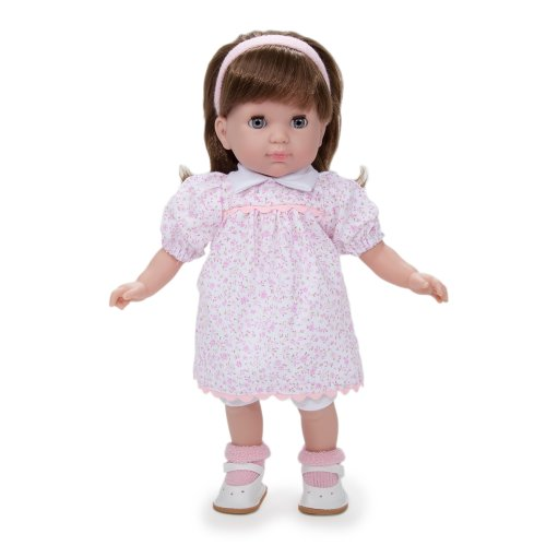 "Jc Toys Carla Brunette 14"" Doll, White/Pink"