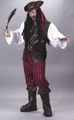 High Seas Male Pirate Adult Costume One Size