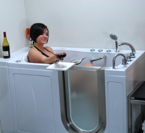 Walk-in Bathtub Acrylic Luxury Dual Massage 2 inch 80 sec Dual Drain Right Side Drain Door