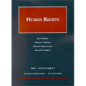 2003 Supplement to Human Rights Louis Henkin