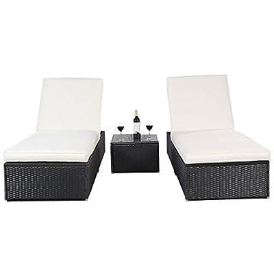 Polyrattan Gartenliege Sonnenliege Relaxliege Liegestuhl Kissen Lounge Doppelliege Liegegruppe von FDS - Gartenmöbel von Du und Dein Garten