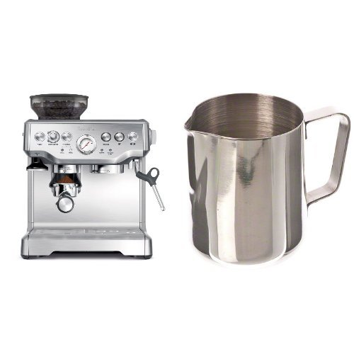 Breville BES870XL Barista Express Espresso Machine and Update International (EP-12) 12 Oz Stainless Steel Frothing Pitcher Bundle (Breville Bes870xl Espresso compare prices)