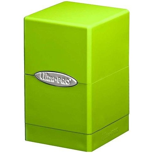 Lime Green Satin Tower Deck Boxes