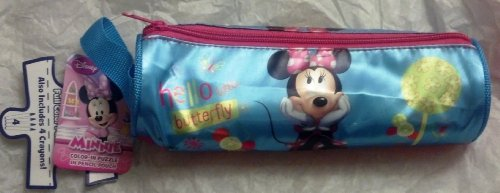 Disney Minnie Mouse Pencil Pouch with Color-in Puzzle - 1