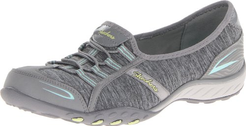 Skechers Sport Women's Good Life Fashion Sneaker, Gray/Aqua, 7.5 M US