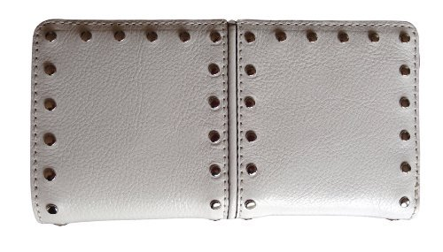 Michael Kors Astor Top Zip Continental Optic White Leather Wallet