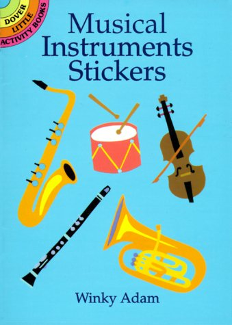 Musical Instruments Stickers (Dover Little Activity Books)