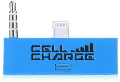 Cell Charge 30 Pin To 8 Pin Audio Jack Adapter Converter For Iphone 5/5S/5C (Blue)