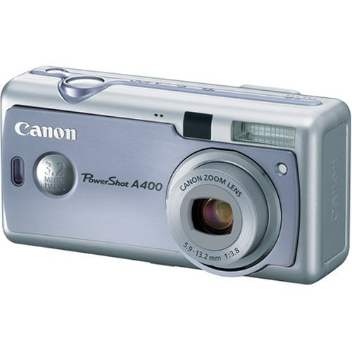 Canon PowerShot A400 3.2MP Digital Camera with 2.2x Optical Zoom (Blue)
