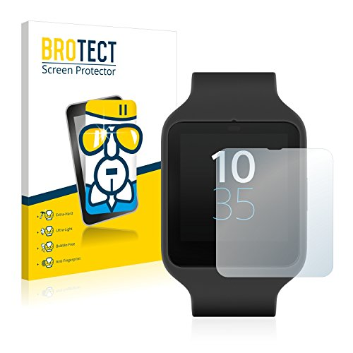 BROTECT AirGlass Protection Verre Flexible pour Sony Smartwatch 3 SWR50 Film Vitre Protection Ecran - Extra Résistant, Ultra-Léger