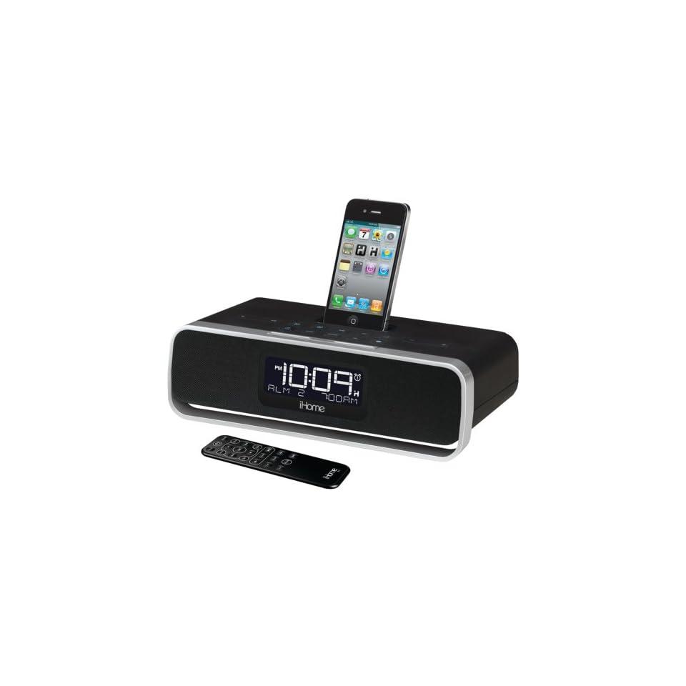 iHome iA90BZ App Enhanced Dual Alarm Stereo Clock Radio for iPhone / iPod
