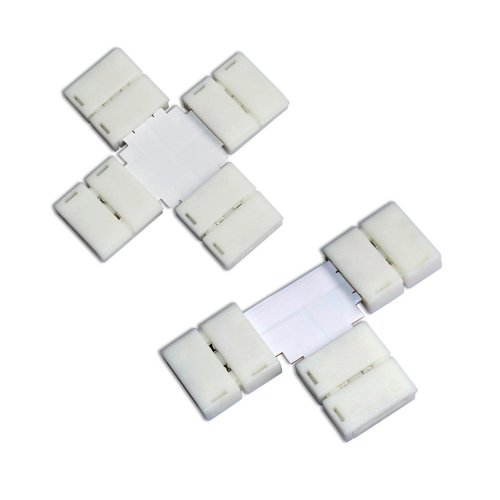 Zitrades(Tm) Bundle Of Connectors With 1X T Shape 1X Cross Connector For 10Mm Wide 5050 Smd Led Flexible Strip Lights By Zitrades