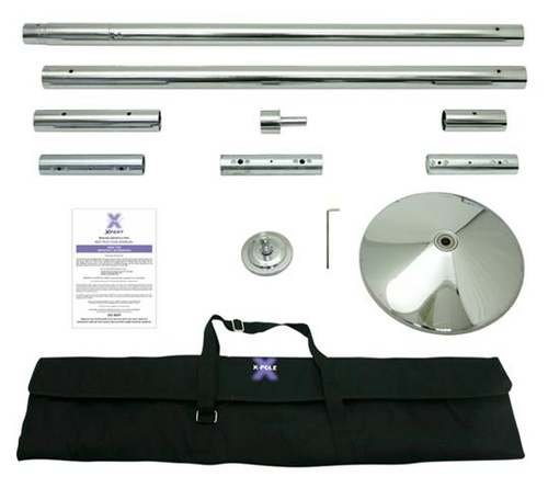 45mm Xpole XPERT Dancing Pole Kit Fully Portable with Carrying Cases