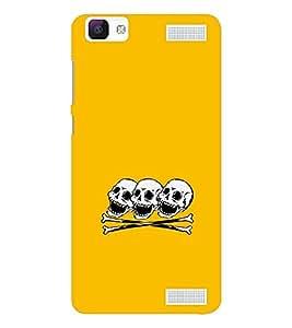 EPICCASE laughing skulls Mobile Back Case Cover For Vivo V1 Max (Designer Case)