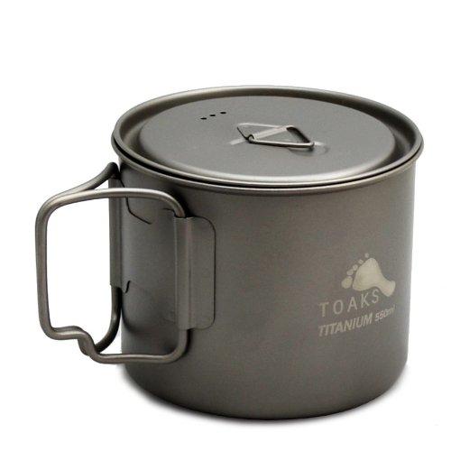 TOAKS LIGHT Titanium 550ml Pot (Titanium Backpacking Pot compare prices)