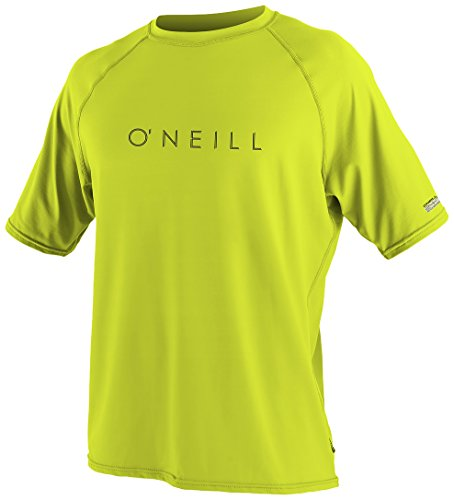 O'Neill Wetsuits UV Sun Protection Men's 24-7 Tech Short Sleeve Crew, Lime, XX-Large