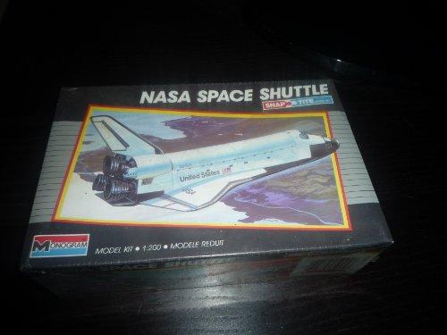 Monogram Snaptite Nasa Space Shuttle Model Kit 1/200 Scale