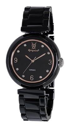 buy Mens Black Ceramic Watch Crystal Accented Dial German Design Konigswerk Cq57G