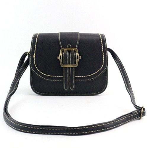 Koly_Le donne di moda spalla della borsa Grande borsa Tote signore (Nero)
