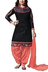 Meghali Women's Cotton Unstitched Salwar Suit (GS8_Multi-Coloured_Freesize)