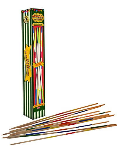 robert-frederick-giant-pick-up-sticks-vintage-vert-et-blanc-a-rayures-couleurs-assorties