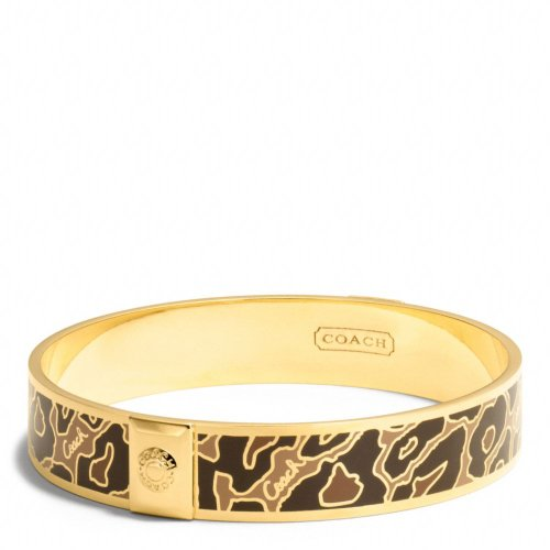 COACH Half Inch Ocelot Bangle