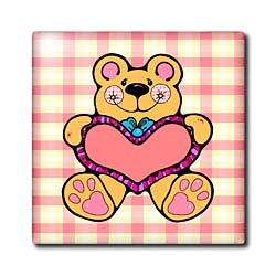Country Style Valentine Teddy Bear Graphic Holding