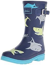 Joules JNR Boys Welly Rain Boot (Toddler/Little Kid/Big Kid), Multi Shark, 2 M US Little Kid