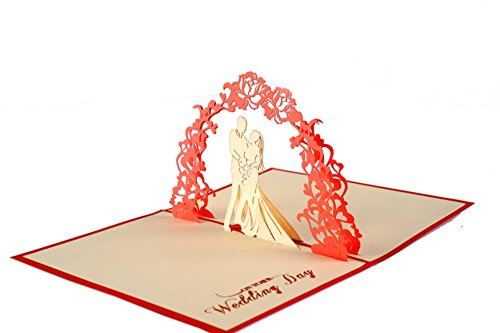 IShareCards® Papercraft Handmade 3D Pop Up Wedding Invitation Cards (Wedding Garland)
