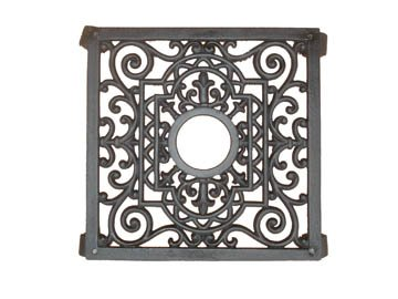 Tierra Garden 40-341 Cast Iron 11-Inch Square Plant Caddies, Black