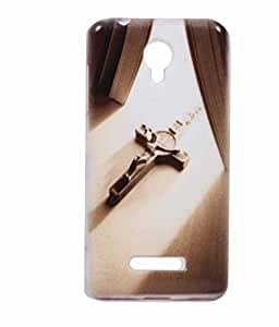 Christian Sign Exclusive Rubberised Back Case Cover For Micromax Canvas Spark Q380