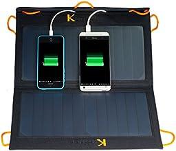 13 Watt mit 2 USB out 5,5V Tragbares Faltbares Solar Ladegerät Solar Panel Solar Zelle für 5V USB-Lade-Devices,Handys, SAMSUNG, PC Tablets, PDA, MP3, MP4,Smartphones, PSP, GPS, iPhone, IPOD, Digital Kamera, eBook Reader, externe Akkus Packs/Power Banks, mobile DVD Player, Bluetooth Headset uvm