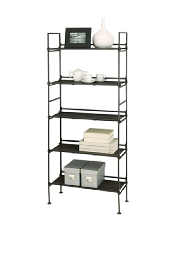 Organize It All Ebonize 5-Tier Shelf in Espresso