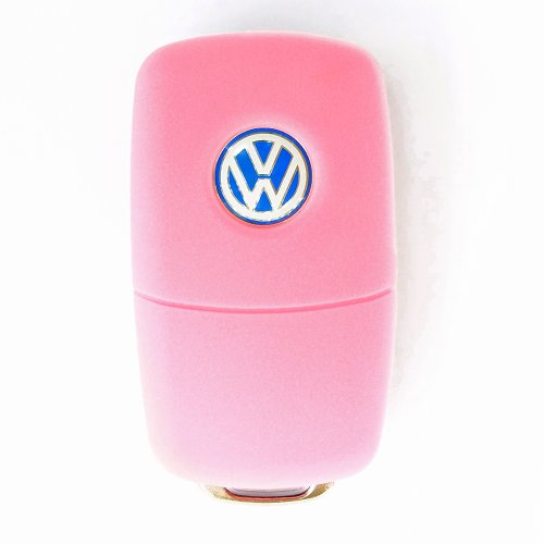 remote-flip-key-fob-keyless-entry-transmitter-silicone-case-cover-vw-volkswagen-light-pink