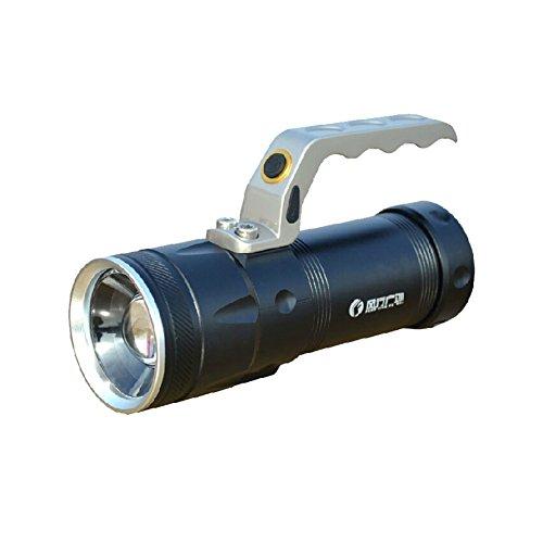 Baoshu1889 Led Spotlight 1000 Lumen Flashlight Searchlight Torch For Riding, Camping, Hiking, Hunting & Indoor Activities (Black)