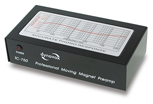 Dynavox TC-750 Préamplificateur pro pour systèmes MM Noir (Import Allemagne)