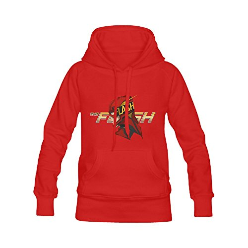 Burrows Custom The Flash Women's Casual Cool Hoodie Sweatshirts Red (Squamish Hooded compare prices)