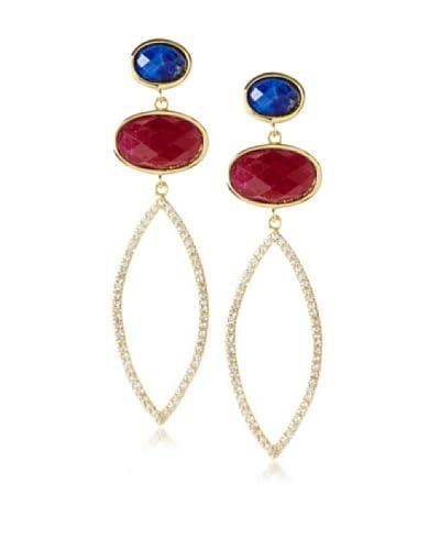Melanie Auld Lapis/Agate Double Oval Earrings