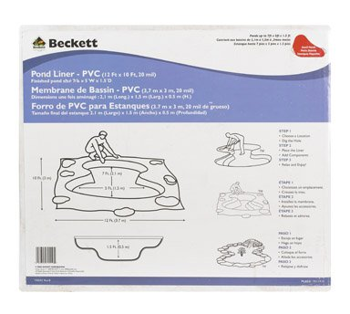Beckett 7011910 12-Foot x 10-Foot Small PVC Pond Liner