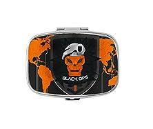 buy Call Of Duty Black Ops Custom Silver Stylish, Slim Design Pill Box Holder,Rectangle Medicine Vitamin Organizer Pill Case