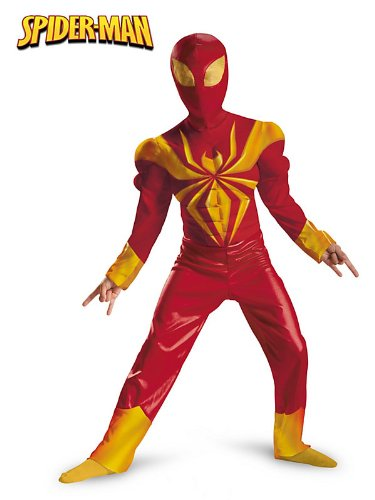Ultimate Iron Spider-Man Muscle Kids Costume