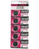 Maxell CR2025 3V al litio batteria a bottone 5 Sparset, 148mAh