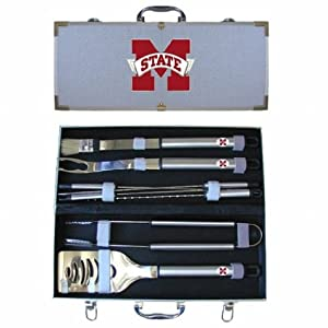 Buy NCAA Mississippi State Bulldogs 8 Piece BBQ Set by SISKIYOU