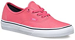 Vans Unisex Authentic Camellia Camellia Rose/Parisian NI Skate Shoe 7.5 Men US / 9 Women US
